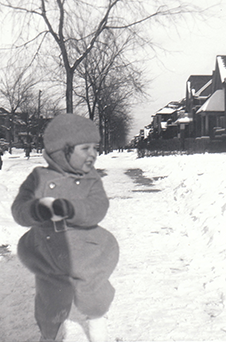 Gene as a kid in snow